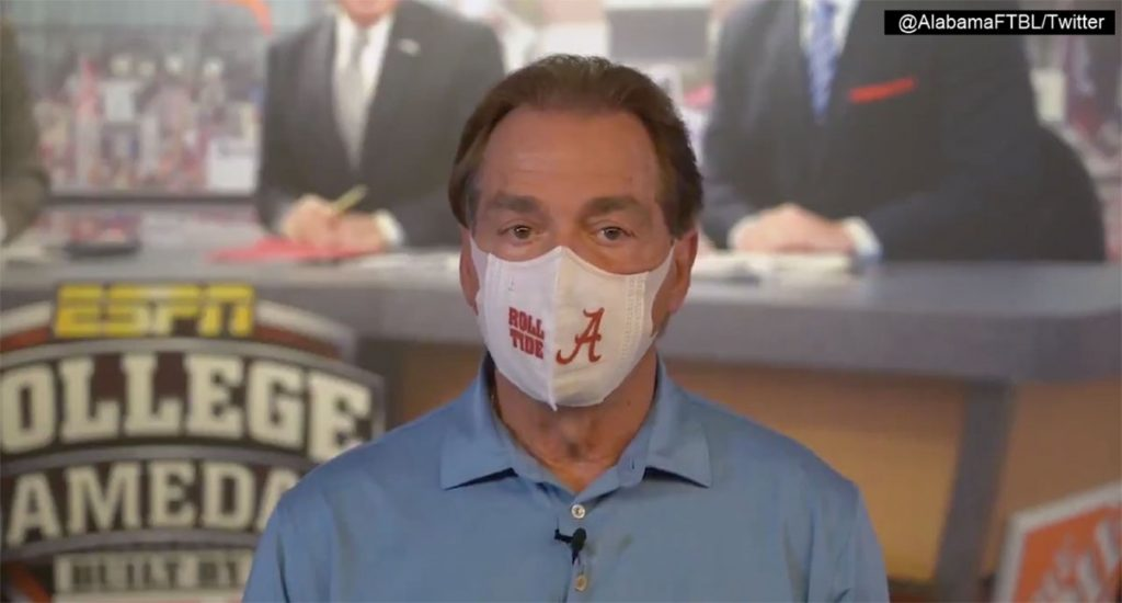 Nick Saban, Mask Dork